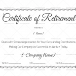 Certificate of Retirement Template (Silver) (#925)