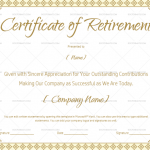 Certificate of Retirement Template in Word (#923)