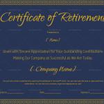 Certificate of Retirement Wording Blue Design (#924)
