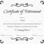 Certificate of Retirement (for MS Word) (#925)