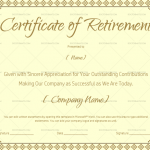 Certificate of Retirement for Word and PDF (#923)