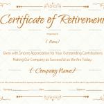 Retirement Certificate Template Brown (#922)