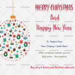 Christmas Gift Certificate Template (Light, Printable in Word)