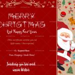 Christmas Gift Certificate Template (Santa Claus, Editable)