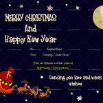 Christmas Gift Certificate Template (Snowflakes, Printable)