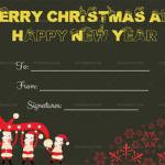 Printable-Christmas-Gift-Certificate-Template-(Santa,-1871)—Black