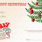 Snow-Man-Christmas-Gift-Certificate-Template