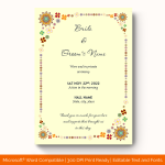 Wedding-Announcement-Template-#1857