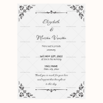 Wedding-Announcement-Template-(Editable-Design)-#1858