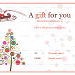 1 Christmas Ball Trees Gift Certificate Template (Word and PDF)