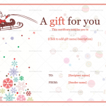 2 Jolly Simle Christmas Ball Trees Gift Certificate Template