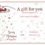 3 Jolly Simle Christmas Ball Trees Gift Certificate in Word and PDF