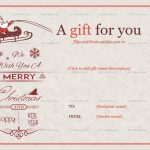 4 Printable Jolly Simle Christmas Ball Trees Gift Certificate Template