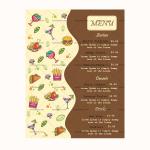Dinner Menu Template (Bown, Printable)