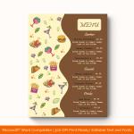 Dinner Menu Template (Bown, Printable) p