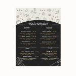 Dinner Menu Template (Grey, Printable in Word)