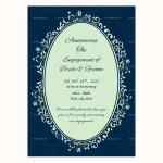 Engagement Announcement Template (Blue, Blank)