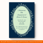 Engagement Announcement Template (Blue,Blank) preview