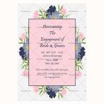 Engagement Announcement Template (Floral, Printable)