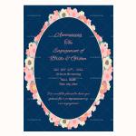 Engagement Announcement Template (Flowers, Editable)