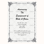 Engagement Announcement Template (Grey, Fillable)