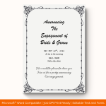 Engagement Announcement Template (Grey, Fillable) preview