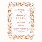 Engagement Announcement Template (Rusty, Printablein Word)