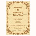 Engagement Announcement Template (Vintage, Editable)