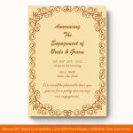 Engagement Announcement Template (Vintage, Editable) preview