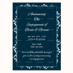 Engagement Announcement Template (White, Blank)