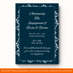 Engagement Announcement Template (White, Blank) preview