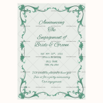 Engagement Announcement Template (mint, Printable and Editable)
