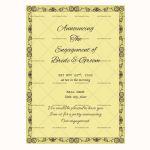 Engagement Announcement Template (simple, Printable in Word)