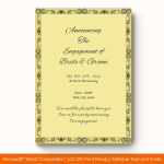 Engagement Announcement Template (simple, Printable in Word) preview