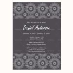 Funeral Invitation Template (Black, Editable)