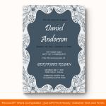 Funeral Invitation Template (Blue, Printable)