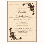 Funeral Invitation Template (Choco, Blank)