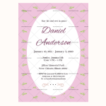 Funeral Invitation Template (Leaf, Editable in Word)