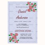 Funeral Invitation Template (Violet, Editable)