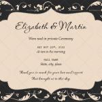 Wedding Announcement Template (Black, Editable)