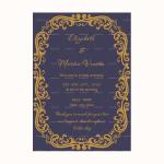 Wedding Announcement Template (Blue, Blank)