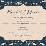 Wedding Announcement Template (Blue, Printable)