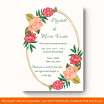 Wedding Announcement Template (Flowers, Editbale) (1)