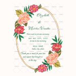Wedding Announcement Template (Flowers, Editbale) (2)