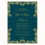 Wedding Announcement Template (Green, Printable in Word)
