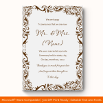 Wedding Announcement Template (Grey, Blank) preview