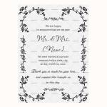 Wedding Announcement Template (Grey, Printable)