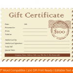 Complimentary Postcard Ticket Gift Certificate Template (Blank)