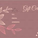 Flower Pattern Gift Certificate Template (MS Word 1)