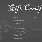 Greyish Silver Gift Certificate Template (Blank in Word)